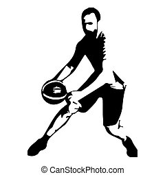 Basketball player isolated vector silhouette