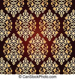 Antique ottoman turkish pattern vec - colorful antique...
