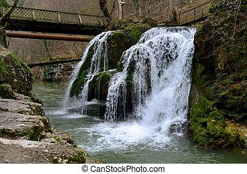 bigar romania waterfall - romania minis valley nera river...