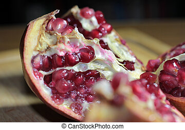 tropical fruit pomegranate - view of a beautiful mature...