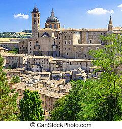 Punkty orientacyjny, Od, Włochy, -, urbino, unesco,...