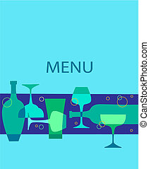 bar and restaurant meny template