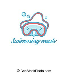 Symbol scuba mask - illustration of a scuba mask isolated on...