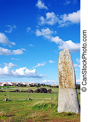 menhir of Bulhoa, Monsaraz, Portugal