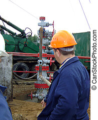 Oil well - Installation works made on an oil well