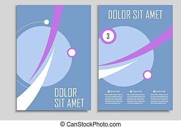 Circle geometric design Vector brochures template for...