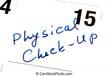 físico, chequeo