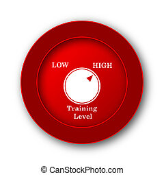 Training level icon. Internet button on white background.