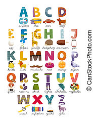 ABC poster - The ABC set of letters and associated pictures...