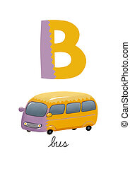 Letter B is for bus. These ABC illustrations with associated...