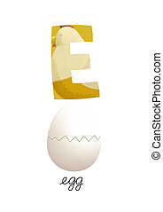 Letter E is for egg These ABC illustrations with associated...