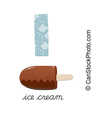 Letter I is for Icecream These ABC illustrations with...