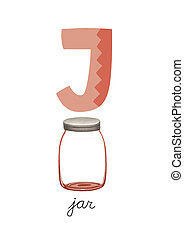 Letter J is for Jar These ABC illustrations with associated...