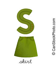 Letter S is for Skirt These ABC illustrations with...