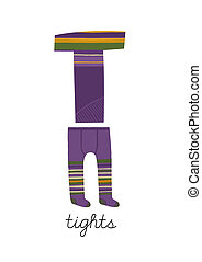 Letter T is for Tights These ABC illustrations with...