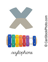 Letter X is for Xylophone These ABC illustrations with...