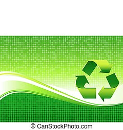 Recycling sign on Green Environmental Conservation Background