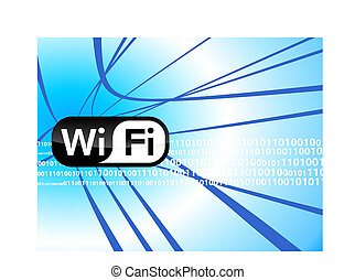 WiFi technology background Original Vector Illustration...