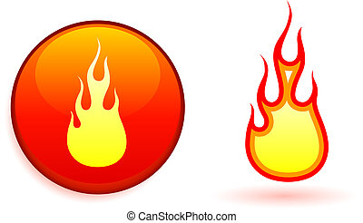 Flame and fire design elemets
