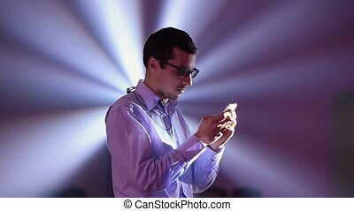 Businessman Looking at His Phone