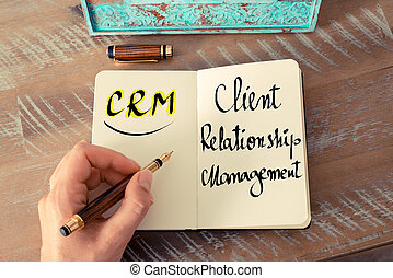 Acronym CRM as Client Relationship Management