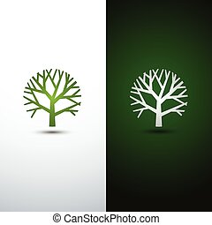 tree logo - Green Tree logo design eco concept.