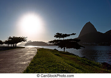 Sugarloaf Mountain in Rio de Janeiro on a Sunny Day.