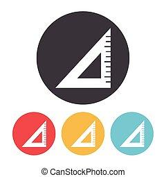 Triangle ruler icon