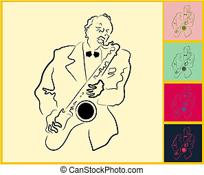 Live Jazz and Blues on post it note - Live Jazz Blues on...
