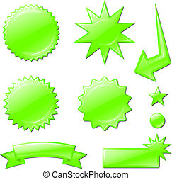 green star burst designs Original Vector Illustration Design...