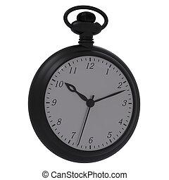 Antique pocket watch. - Antique pocket watch isolated on a...