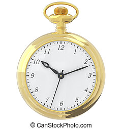 Antique pocket watch. - Antique pocket watch isolated on a...