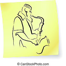 Live Jazz & Blues on a post-it note
