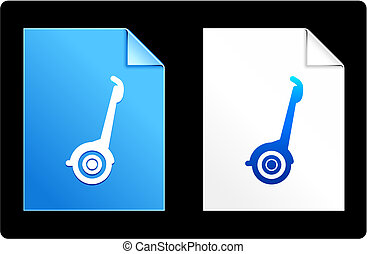 Segway on Paper Set Original Vector Illustration AI 8...