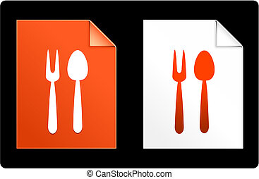 Utensil on Paper Set