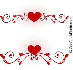 romantic hearts Valentines Day design background