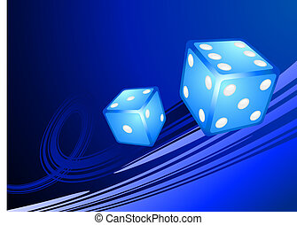Blue Dice on Internet Background