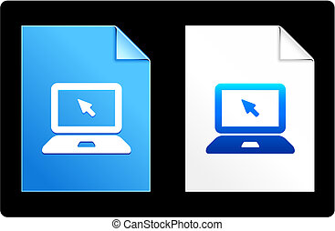 computer laptop on Paper Set Original Vector Illustration AI...