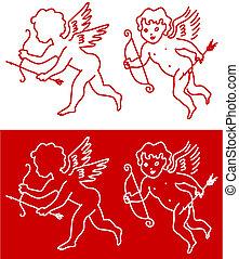 Cupid Angel Valentines Day design background