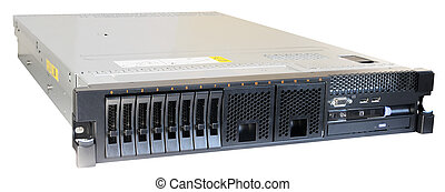 Rackmount server isolated - Rack mount server isometric view...