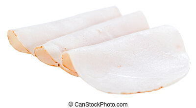Chicken Breast Fillet selective focus isolated on white -...