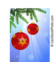 Holiday background with Christmas Ornament and tree....