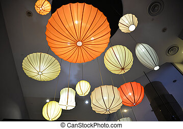 Colorful Ceiling Lights