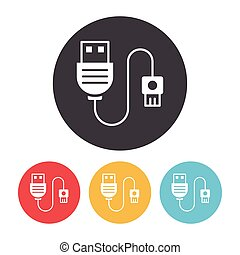 Usb cable Vector Clipart EPS Images. 2,566 Usb cable clip art ...