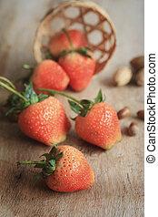 tasty fresh strawberry fruit