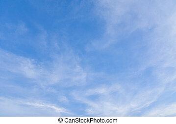 藍色, 天空, 清楚, 云霧, 白色