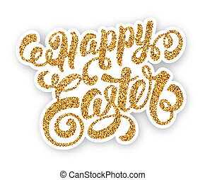 Easter Greeting Lettering - Happy Easter Calligraphic...