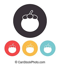 fruits Mangosteen icon