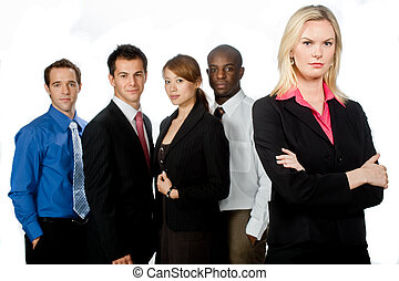Group of Professionals - An attractive caucasian...