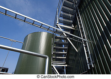 Ladders and pipes On An industrial construction Site